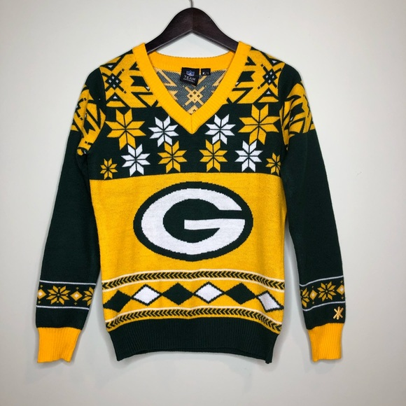 save off b99aa 8688b Green Bay Packers NFL Ugly Christmas Sweater Small